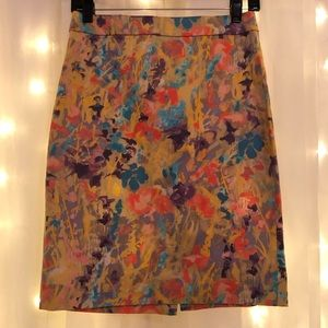 Dresses & Skirts - JCrew Floral No. 2 Pencil Skirt Yellow Watercolor